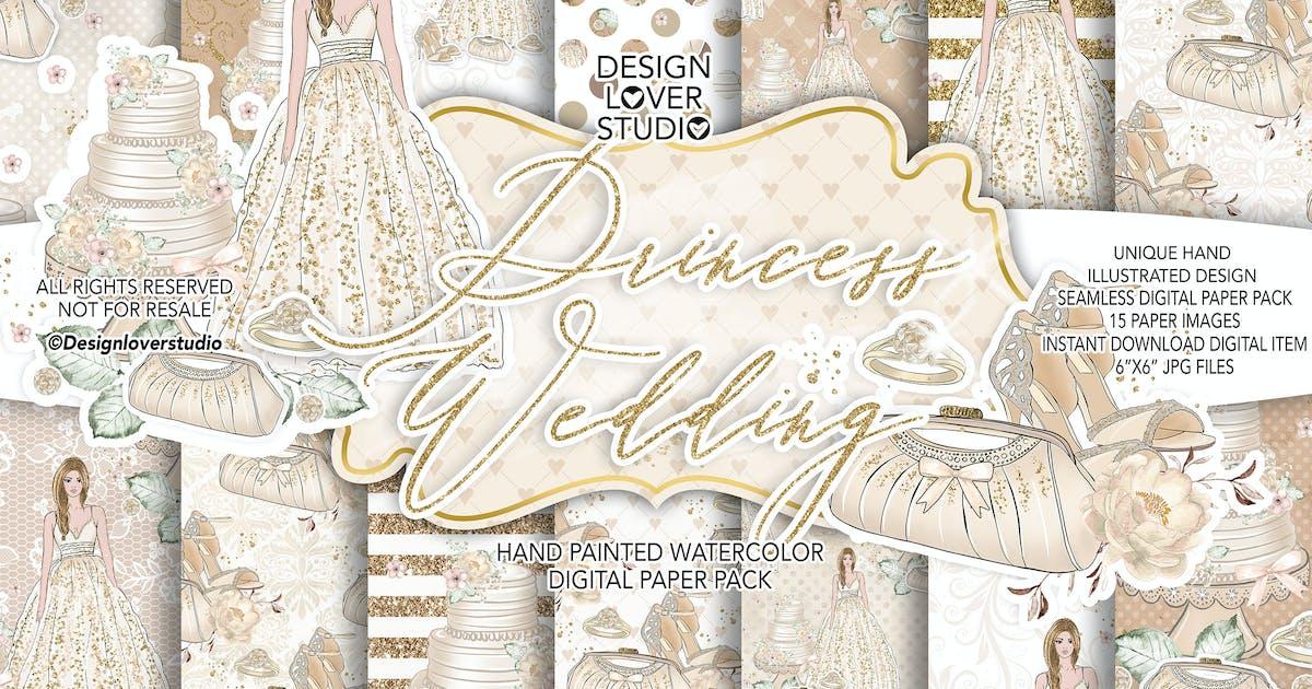 Download Princess Wedding digital paper pack by designloverstudio