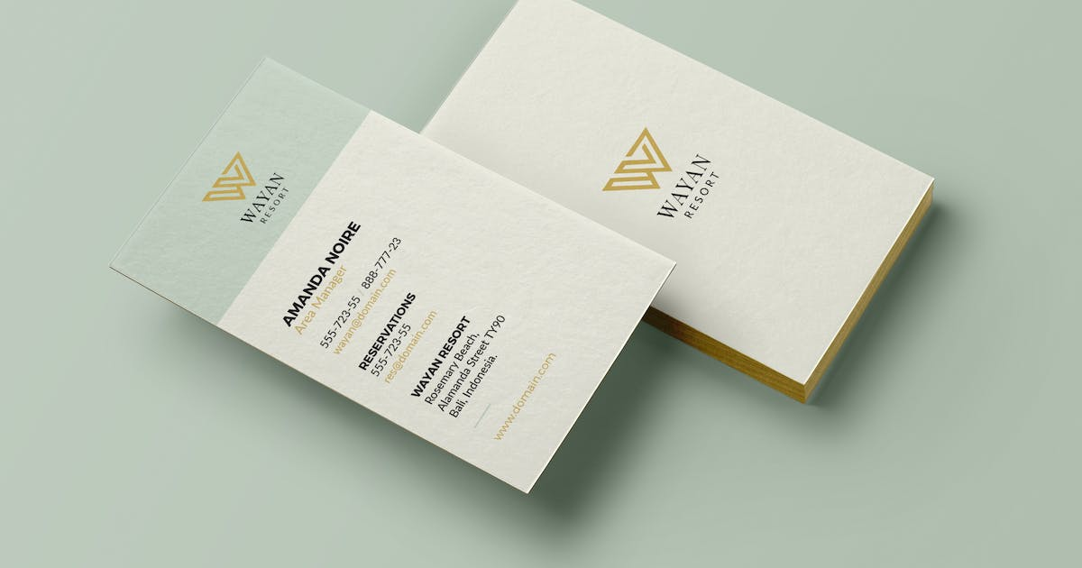 Hotel & Resort Business Card by micromove